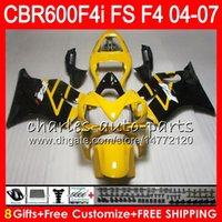 8Gifts 23Color For HONDA CBR600FS FS CBR600F4i 04 05 06 07 4...