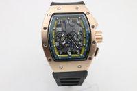 Uomo di alta qualità 011 Guarda la gomma nera in acciaio inossidabile in acciaio inossidabile Cassa in oro verde Green Shade Automatic Machinery Watch