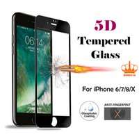 for iPhone 6 7 8 X series Ultra Thin 5D 9H Clear Screen Prot...