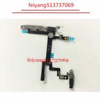 10pcs 100% de travail Bouton Marche / Arrêt Bouton Câble Flex avec plaque en métal pour iPhone 5