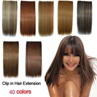 40colors 120g high temprature synthetic fiber clip in hairs ...