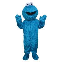 Qualität COOKIE MONSTER Maskottchen COOKIE MONSTER Maskottchen Kostüm Elmo Maskottchen kostenloser Versand