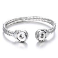 Нуса куски Оснастки кнопка браслет простой дизайн посеребренные 12 мм взаимозаменяемые имбирь защелками браслеты ювелирные изделия