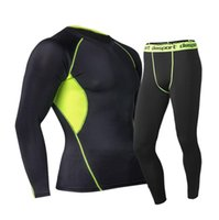 Men' s Sports Sets Compression Under Base Layer T- Shirts...
