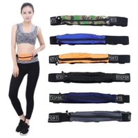 7 Colori Sports Runner Fanny Pack Viaggio Handy Escursionismo Cintura Fitness Running Jogging Bum Bag Zip Pouch Borsa Marsupio CCA6934 100 pezzi