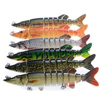 6pcs lot 13cm 21g Fishing Lures Multi Jointed 9 Segement Art...