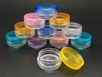 500 adet / grup 3G 5G Renkli Kozmetik Boş Kavanoz Pot Makyaj Yüz Kremi Konteyner Şişe Nail Art Tozu Saklama Kutusu Kılıfı