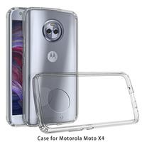 Dla ZTE TEMPO X N9137 ARMOR CASE Transparent Hybrid Telefon Case Do Motorola Moto X4 Soft TPU zderzak Clear Powrót Pokryj A