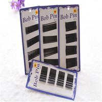 Black Bobby Pins Mujeres Accesorios para el cabello Bob Pin Girls Hair Clips Barrette Wave Straight BB horquillas para el cabello Joyería de la boda 50cards / lot