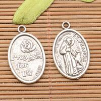 2000 adet Tibet gümüş Aziz Francis Assisi takılar