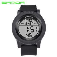 2017 sanda esporte digital relógio homens top marca de luxo famosos relógios de pulso militar para o relógio masculino relogio masculino eletrônico