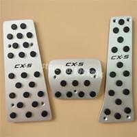 إكسسوارات الألمنيوم لمازدا CX CX5 5 CX5 AT / MT الغاز مسرع استراحة القدم الراحة لوحة دواسة الوسادة، التصميم غطاء ملصق