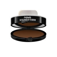 Free Shipping Newest 3 Color Quick Makeup Eyebrow Stamp Eyebrow Powder Seal Fashion convenience Eyebrow Powder