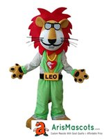 Adult Funny Disco Lion mascot costume Custom Team Mascots Sp...