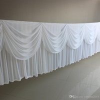 High Quality 20ft (6M) Length White Ice Silk Solid Table Ski...