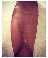 GEMIN 2 шт. (1 шт. в подарок) бикини Луна кристалл алмаза очарование кроссовер ремень талии живота тела цепи ожерелье