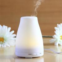 100 ML 7 Cor Difusor De Aroma LEVOU Luz Seca Proteger Aromaterapia Ultra-sônica Difusor do Óleo Essencial Casa Mudo Umidificador de Ar