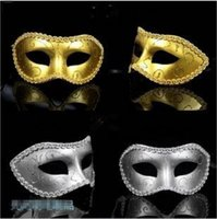 Masquerade Mask Fancy Dress Máscaras Venetian Masquerade Masks Máscara Plástica Metade da Face Opcional Multicor
