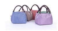New Portable Lunch Bag For Women Insulated Cold Canvas Picni...