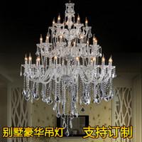 Moderna sala del hotel Vela de araña de cristal soplado villa de vidrio escalera lámpara de Murano luz lámparas colgantes de araña de cristal de la sala de banquetes