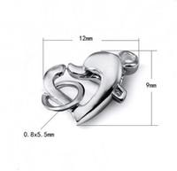 10 قطعة / الوحدة 925 فضة القلب مخلب جراد البحر المشبك ل ديي الحرفية الأزياء والمجوهرات هدية شحن مجاني 7.7X11mm W292