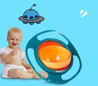 360 Rotation Kid-Proof Non Spill Feeding Toddler Gyro Bowl Avec Couvercle Évitez De renverser Des Aliments Enfants Création Creation Bol Comme Fournitures Alimentaires