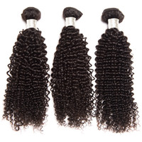 3 Bundles Brazilian Kinky Curly Remy Human Hair Extensiones ...