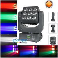Gratis verzending LED Matrix Lights Mini 9 STKSX10W RGBW 4IN1 LED's Sharpy DJ Matrix Infinite Roterende wasstraal Moving Heads Disco Stage Lighting