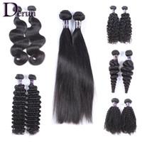 Бразильские перуанские индийские малазийские волосы для волос 2 шт. / Лот необработанные девственные человеческие волосы прямые кузова волна глубокая волна kinky кудрявая свободная волна