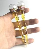 Verre de 5 pouces Dabber Tool coloré épais Pyrex Vaporisateur huile de cire DAB Outils pour tuyaux d'eau Fumeurs Capuchon Casquettes Tuyaux d'eau