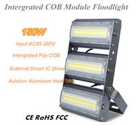 Yeni 150W Ayaklı COB Modülü Taşkın Işık 15000lm LED Chip Flood Lambalar IP66 Ultra ince Yüksek Güç Faktörü Tünel ışık AC110V / 220V