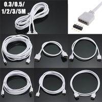 30/50/100/200/300 / 500cm 4Pin Verlängerungskabel Kabelstecker RGB 5050 3528 LED Streifen Licht und Stecker