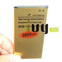 محفظة 5pcs / الكثير 3850mAh EB-BJ710CBC الذهب استبدال البطارية لبطاريات 2016 الطبعة سامسونج غالاكسي J7 J7108 J7109 SM-J708 J7008 J7009 J700F