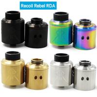 Date Le Recoil Rebel RDA Atomiseur Avec Extra Cap 25mm PEEK Isolateurs 4 Couleurs Fit 510 Mods DHL Gratuit