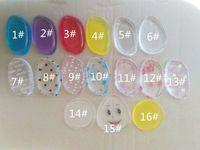 16 renkler puf silikon makyaj süngerleri Silisponge Blender Seti Karıştırma Toz Pürüzsüz Puf Güzellik Vakfı Lateks Ücretsiz Sünger şeffaf