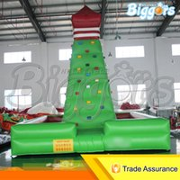 Carnival Party Commercial Rock Inflatable Climbing Wall Air Inflated Climbing Game With Safty Accessories