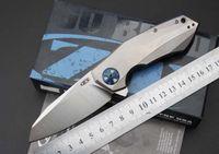 ZT0456 cero tolerancia 0456 cuchillos tácticos plegables 100% real D2 TC4 titanio aleación caza caza supervivencia cuchillos de bolsillo al aire libre EDC