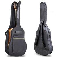 """Partihandel Ankomst 41 """"Akustisk gitarr Dubbelrum Padded Gitarr Soft Case Gig Bag Backpack"""