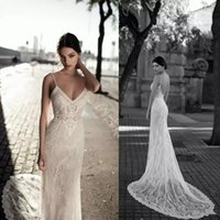 Gali Karten 2018 Sexy Mermaid Wedding Dresses Backless Spagh...