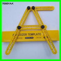Angle- izer Multi- Angle Measuring Ruler Four- Sided Foldable I...