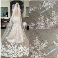 Cheap Wedding Accessories 2017 Appliques Tulle Long White Iv...