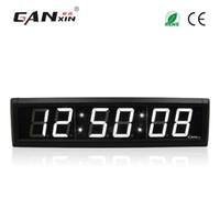 [Ganxin] 2,3 polegadas 6 dígitos LED relógio de parede cor branca LED temporizador 7 segmento de contagem regressiva de exibição com controle remoto