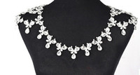 2017 verkauf schmuck elegante luxus große kristall hochzeitskleid schulter kette halskette der ehe