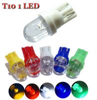 10 UNIDS T10 de color LED Luz 194 501 W5W Luz Lateral Del Coche Auto Cuña LED Bombilla de La Lámpara Del Coche Bombillas de aparcamiento 12 v