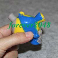 El más nuevo Bubbler del silicón mini mano que viaja bongs del cráneo pipa de agua de cristal que fuma accesorios cachimba portátil envío libre