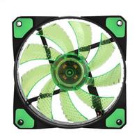 Ventilateurs rayonnant radiateur ventilateur de refroidissement pour ordinateur PC dissipateur de chaleur ventilateur 120mm 3 lumières 12V lumineux 3 broches 4 broches prise