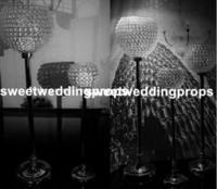 Toptan ucuz uzun silindir el yapımı temizle antika düğün cam vazo ev dekor için yeni