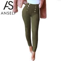 Anself Hiver Faux Suède Femmes Pantalon Taille Haute Élastique Stretch Slim Femme Crayon Pantalon Pantalon Maigre Plus La Taille Pantalon Femme