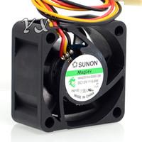 Бесплатная доставка Оригинальный Новый SUNON HA40201V4-0000-C99 HA40201V4-D000-C99 4 см 4020 12 В 0.6 Вт 3 провода скорость тихий вентилятор