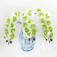 도매 - 다채로운 인공 꽃 난초 나비 난초 꽃 홈 장식 파티 사진 꽃 6pcs / lot
